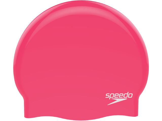 speedo Plain Moulded Gorro de silicona, red/white